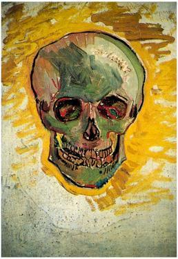 Vincent Van Gogh Skull Art Print Poster