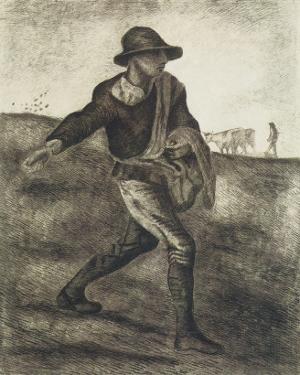Sower (after Millet) by Vincent van Gogh