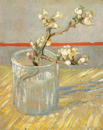 Sprig of Flowering Almond in a Glass, 1888 by Vincent van Gogh