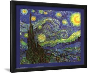 Vincent Van Gogh (Starry Night) Art Print Poster