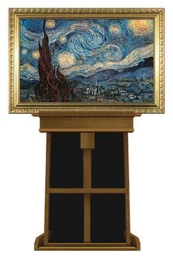 Starry Night by Vincent van Gogh on Museum Easel Fine Art Lifesize Standup by Vincent van Gogh