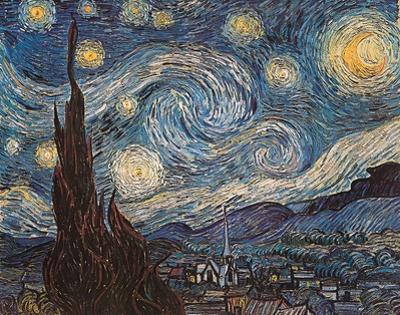 Starry Night, c.1889 by Vincent van Gogh