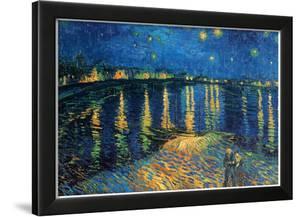 Vincent Van Gogh Starry Night Over the Rhone Art Print Poster