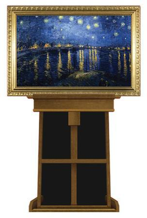 Starry Night Over the Rhone by Vincent van Gogh on Museum Easel Fine Art Lifesize Standup by Vincent van Gogh