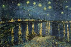 Starry Night over the Rhone, c.1888 by Vincent van Gogh