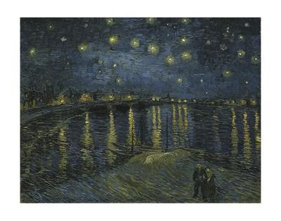 Art Print//Poster 11x14 inches Starlight Over The Rhone by Vincent Van Gogh