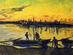 Stevedores in Arles by Vincent van Gogh