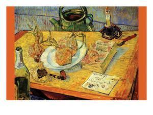 Still Life Drawing Board Pipe Onions and Sealing-Wax by Vincent van Gogh