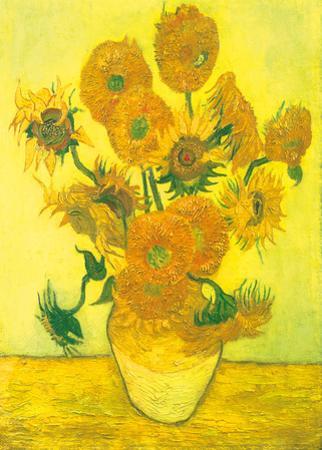 Still Life, Vase With Fifteen Sunflowers