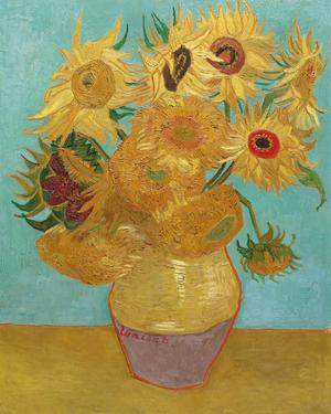 Still Life, Vase with Twelve Sunflowers, January 1889 by Vincent van Gogh
