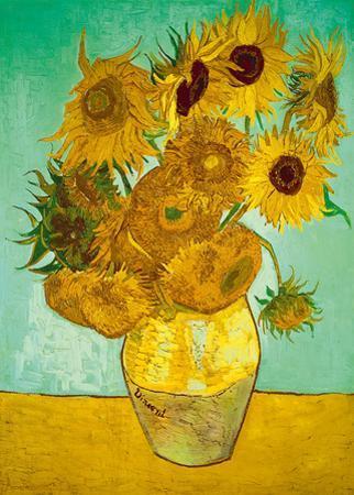 Still Life, Vase With Twelve Sunflowers by Vincent van Gogh