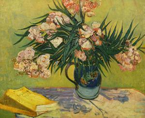 Vincent Van Gogh (Still life with oleander) Art Poster Print