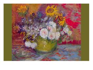 Still-Life with Roses and Sunflowers by Vincent van Gogh