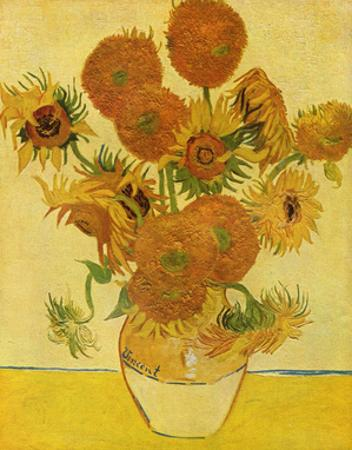 Vincent Van Gogh (Still life with sunflowers) Art Poster Print