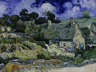 Straw-Decked Houses in Auvers-Sur-Oise, c.1890 by Vincent van Gogh
