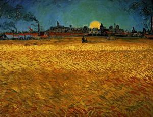 Summer Evening Near Arles by Vincent van Gogh