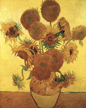 Sunflowers on Gold, 1888 by Vincent van Gogh