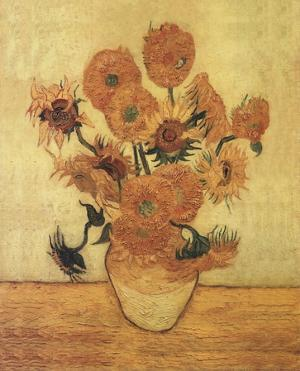 Sunflowers On Gold by Vincent van Gogh