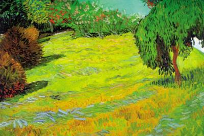Sunny Lawn by Vincent van Gogh