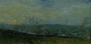 Sunset at Montmartre by Vincent van Gogh