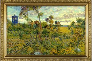 Vincent Van Gogh Tardis at Montmajour Plastic Sign