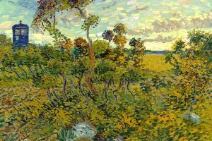 Vincent Van Gogh Tardis Montmajour Plastic Sign