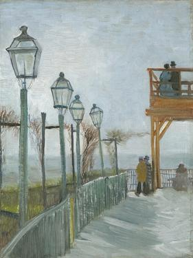 Terrace and Observation Deck at the Moulin De Blute-Fin, Montmartre, Early 1887 by Vincent van Gogh