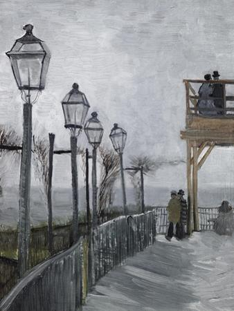 Terrace and Observation Deck at the Moulin by Vincent van Gogh