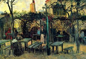 Vincent Van Gogh Terrace of a Cafe on Montmartre La Guinguette Art Print Poster