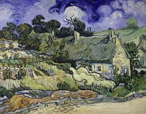 Thatched Cottages at Cordeville, Auvers-Sur-Oise, 1890 by Vincent van Gogh