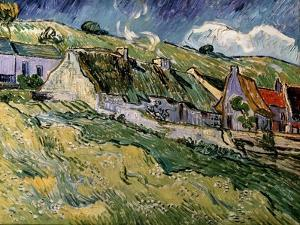 Thatched Cottages in Cordeville, 1890 by Vincent van Gogh