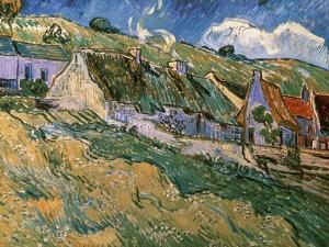 Thatched Cottages by Vincent van Gogh
