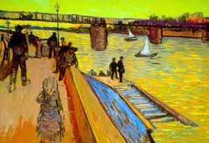 Vincent Van Gogh The Bridge Art Print Poster