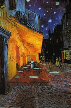The Cafe Terrace on the Place du Forum at Night, Arles, 1888 by Vincent van Gogh