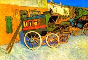 Vincent Van Gogh The Coach of Tarascon Art Print Poster