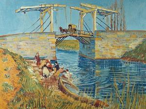 The Draw Bridge, Arles (Le Pont De Langlois), 1888 by Vincent van Gogh
