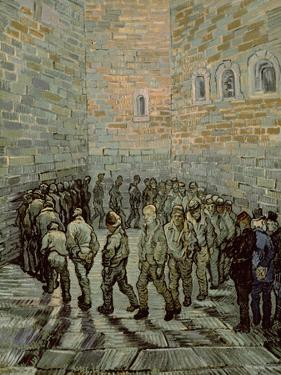 The Exercise Yard, or the Convict Prison, c.1890 by Vincent van Gogh