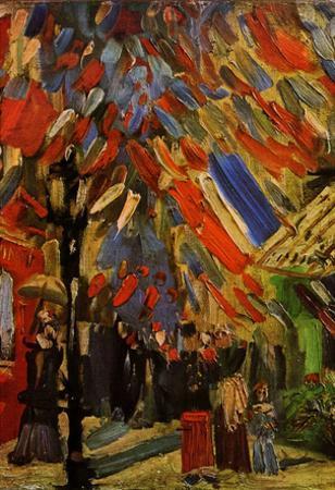 Vincent Van Gogh The Fourteenth of July Celebration in Paris Art Print Poster