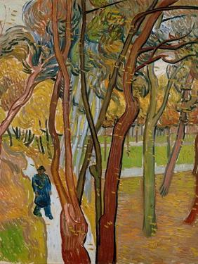 The Garden of Saint Paul's Hospital (The Fall of the Leave), 1889 by Vincent van Gogh