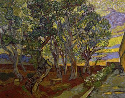 The Garden of Saint Paul's Hospital by Vincent van Gogh
