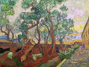 The Garden of St. Paul's Hospital at St. Remy, 1889 by Vincent van Gogh