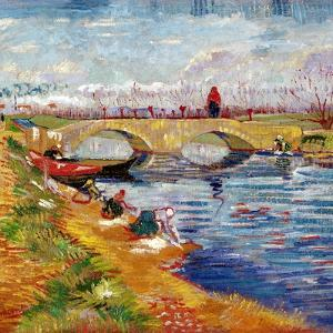 The Gleize Bridge over the Vigneyret Canal, Near Arles by Vincent van Gogh