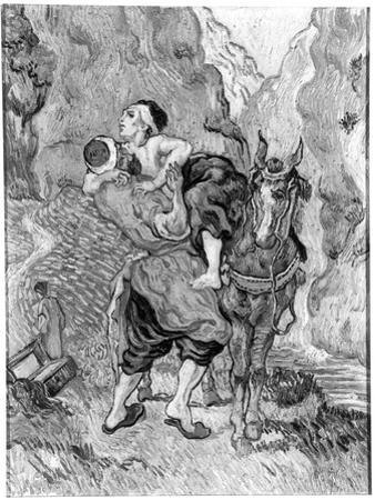 The Good Samaritan, after Delacroix, 1890 by Vincent van Gogh