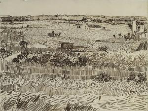 The Harvest in Provence (For Émile Bernar), 1888 by Vincent van Gogh