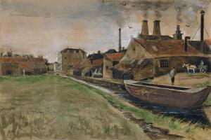 The Iron Mill in the Hague, 1882 (Gouache, W/C, Wash, Pen and India Ink, Pencil on Paper) by Vincent van Gogh