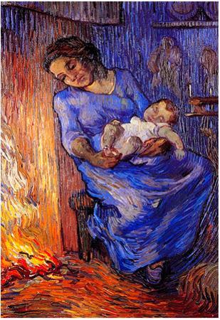 Vincent Van Gogh The Man is at Sea after Demont-Breton Art Print Poster