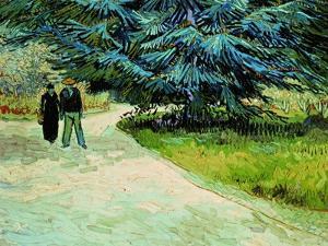 The Poet's Garden, Arles 1888 by Vincent van Gogh