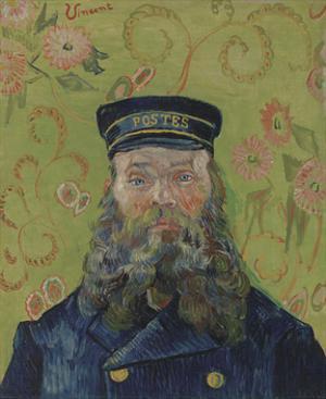 The Postman (Joseph-Etienne Roulin), 1889 by Vincent van Gogh