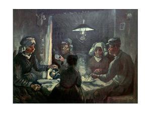 The potato-eaters; 1885 Cat. No. 196. by Vincent van Gogh