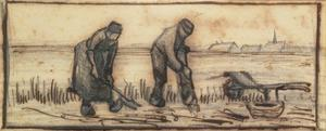 The Potato Harvest, from a Series of Four Drawings Representing the Four Seasons by Vincent van Gogh